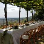 tavolo ricevimento giardino b&b