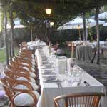 tavoli ricevimento pergolato giardino b&b