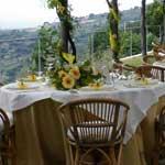 tavoli cerimonia giardino b&b