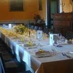 tavolo sala interna domus laeta b&b