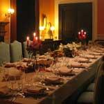 tavolo candele sala interna domus laeta b&b