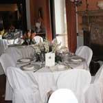tavoli cerimonia sala interna domus laeta b&b